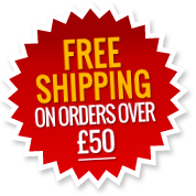 propdog red free shipping notice over £50 label