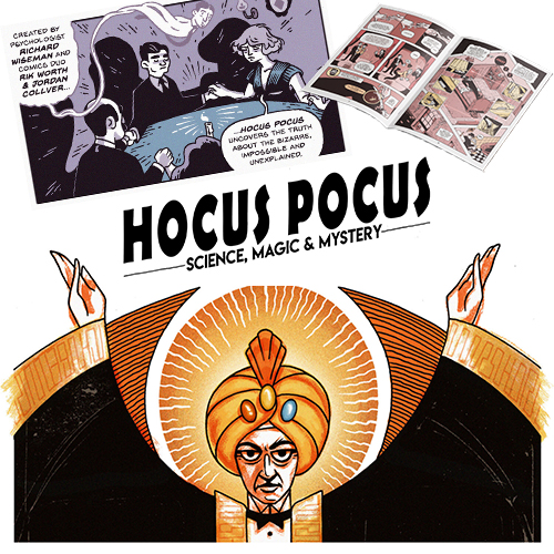 Hocus Pocus - Science, Magic and Mystery Comic by Richard Wiseman - PropDog Exclusive