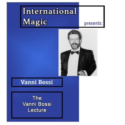 International Magic Lecture DVD - Vanni Bossi
