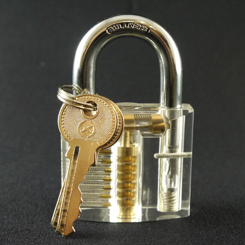 Clear Lock Pick Training Lock - 7 pin