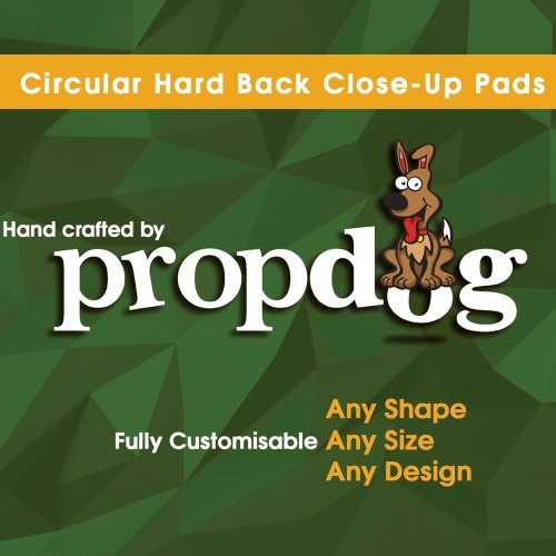 "5"" Circular Hard Back Pad - Hand Crafted by Propdog"