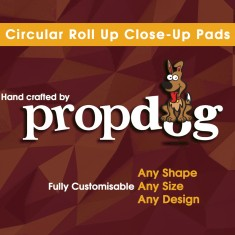 Circular Roll Up Close-Up Pads - Hand Crafted by Propdog