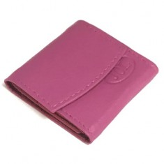 Coin Tidy with Magnetic Closure - Pink Leather by Jerry O'Connell and PropDog