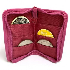 Zip Coin Purse - Pink Leather by Jerry O'Connell and PropDog
