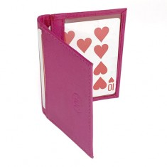Double Bi-Fold Holder - Pink Leather by Jerry O'Connell and PropDog