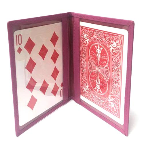 Single Bi-Fold Holder - Pink Leather by Jerry O'Connell and PropDog