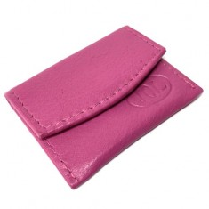 Single Coin Purse with Magnetic Closure - Pink leather by Jerry O'Connell and PropDog