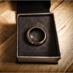 Kinetic PK Ring - (Silver) Curved