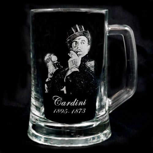 Legends of Magic Engraved Glass Tankard - Cardini
