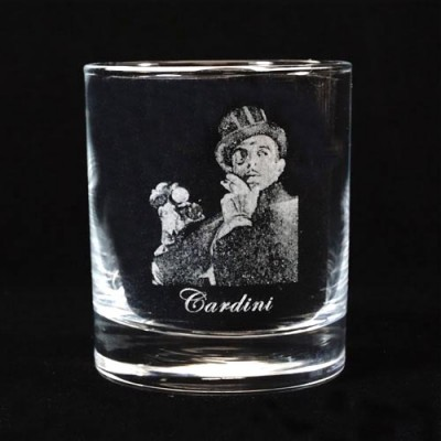 Legends of Magic Engraved Whiskey Glass - Cardini