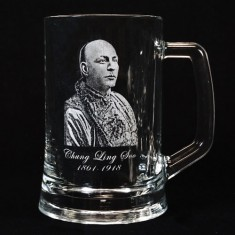 Legends of Magic Engraved Glass Tankard - Chung Ling Soo