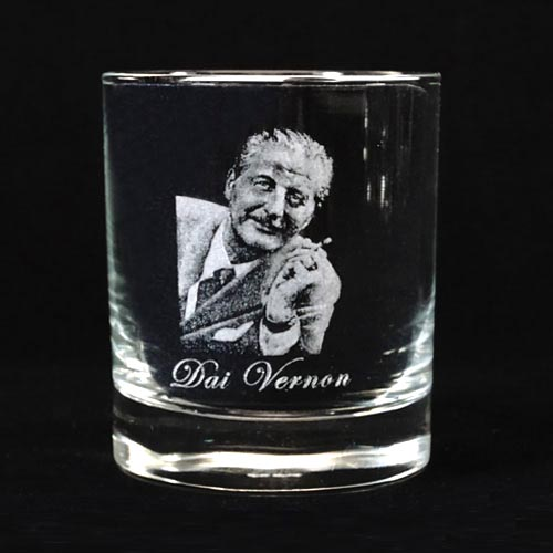 Legends of Magic Engraved Whiskey Glass - Dai Vernon