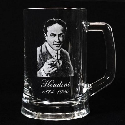 Legends of Magic Engraved Glass Tankard - Houdini