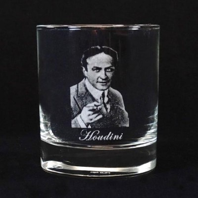 Legends of Magic Engraved Whiskey Glass - Houdini