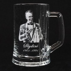 Legends of Magic Engraved Glass Tankard - Slydini