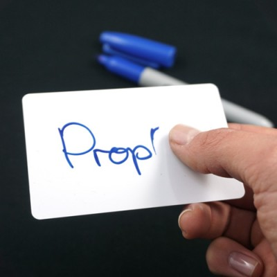 Converted Dry Wipe Sharpie with 5 Mini WhiteBoards by PropDog