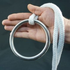 Stainless Steel Ring for Ring on Rope - 125mm x 12mm by PropDog