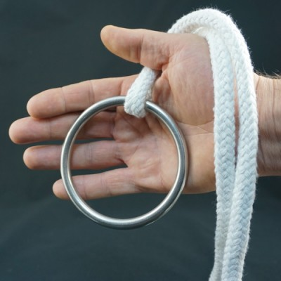 Stainless Steel Ring for Ring on Rope - 100mm x 8mm by PropDog
