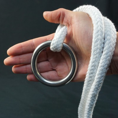 Stainless Steel Ring for Ring on Rope - 70mm x 10mm by PropDog