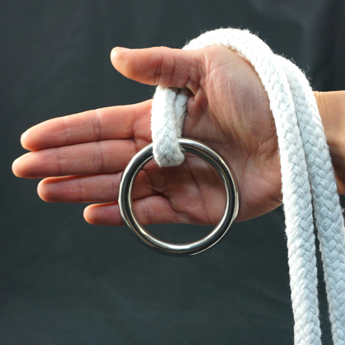 Stainless Steel Ring for Ring on Rope - 70mm x 8mm by PropDog