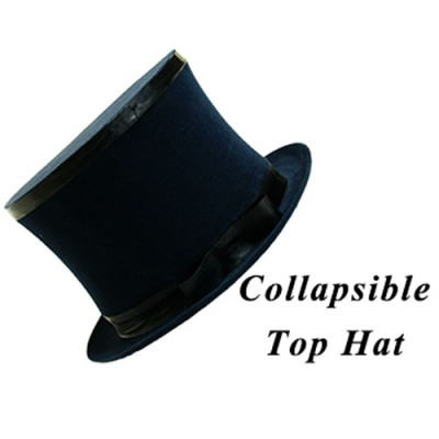 Collapsible Top Hat (Black) - Premium Magic