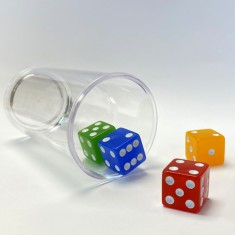 Dice Stacking Glass By PropDog
