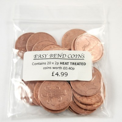 Bag of 20 Easy Bend 2 Pence Coins - by PropDog