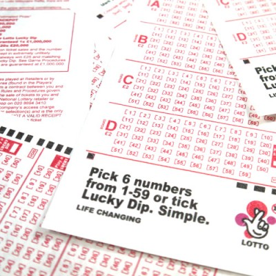 Tyvek Lottery Tickets New Style by PropDog -  A4 sheet