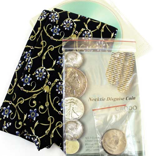 Necktie Disguise Coin by Johnny Wong