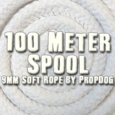 PropDog Deluxe Magicians' 9mm Soft Rope 100M Reel -  White