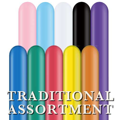Qualatex 260Q - Traditional Assortment - Bag of 100