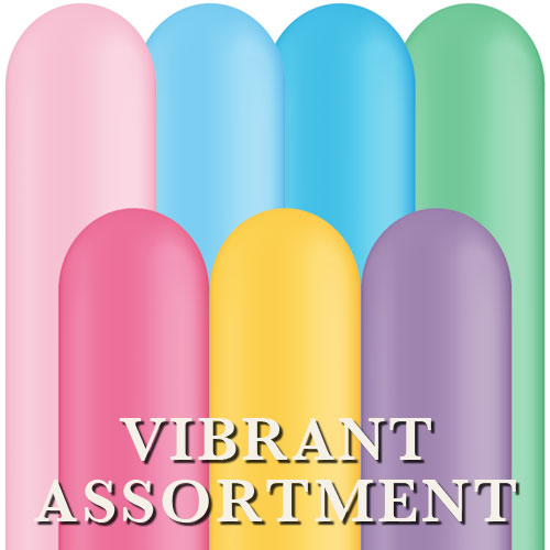 Qualatex 260Q - Vibrant Assortment - Bag of 100