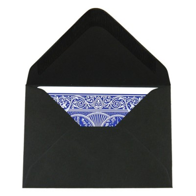 Packet of 20 Deluxe Playing Card Envelopes  - Black