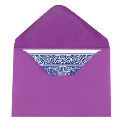 Packet of 20 Deluxe Playing Card Envelopes  - Purple