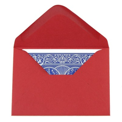 Packet of 20 Deluxe Playing Card Envelopes  - Red