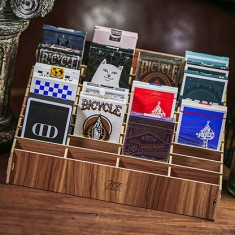Wooden Playing Card Display (Large 40 Decks) by TCC