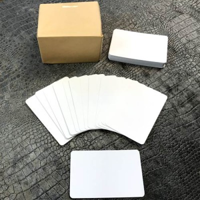 Packet of 200 Double Blank White Cards (not playing cards)
