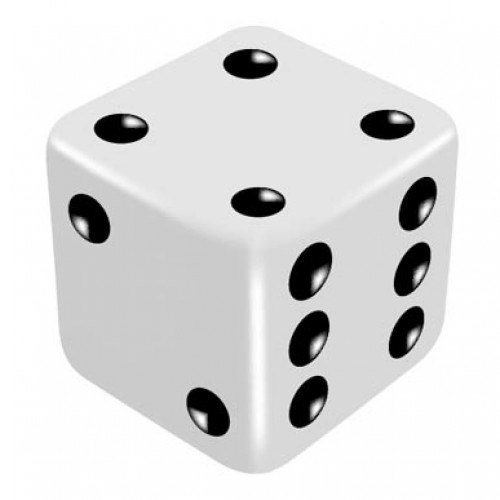 16mm White Even Thrower Dice by PropDog