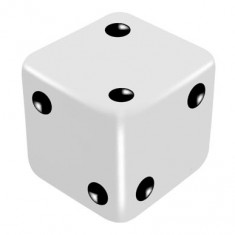 16mm White One Way Force Dice - Force Number 2 by PropDog