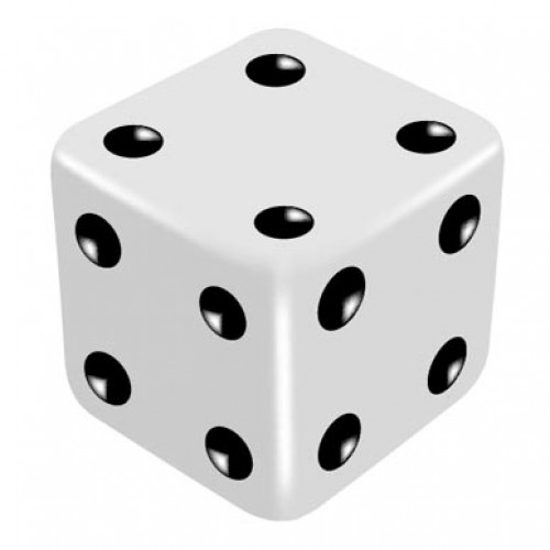 16mm White One Way Force Dice - Force Number 4 by PropDog