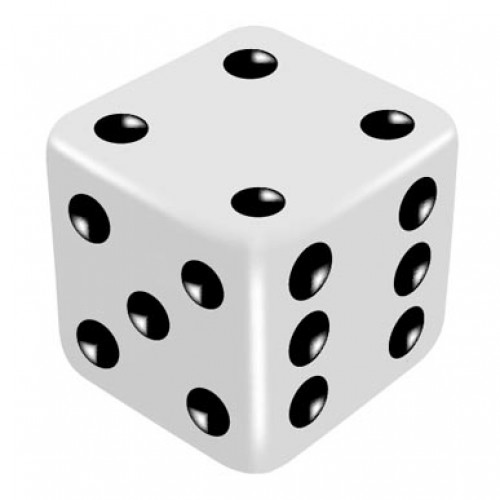 16mm White High Thrower Dice by PropDog