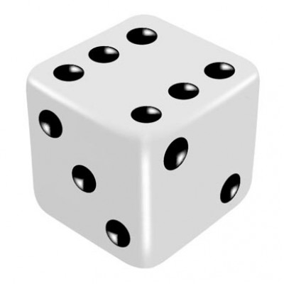 16mm White Regular Dice - to match gimmicked dice by PropDog