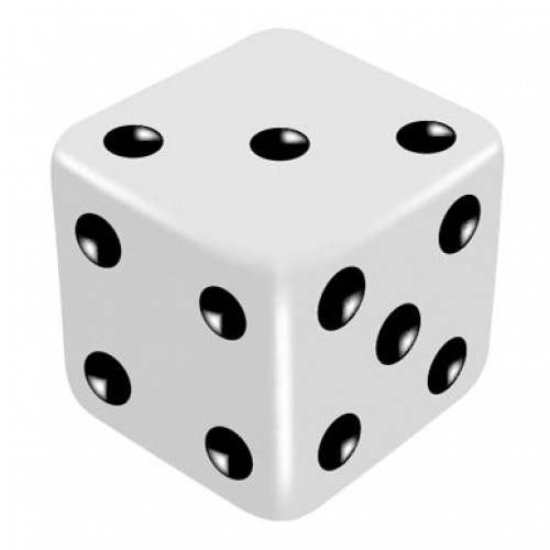 16mm White Three Way Force Dice - Force Number 3,4,5 by PropDog