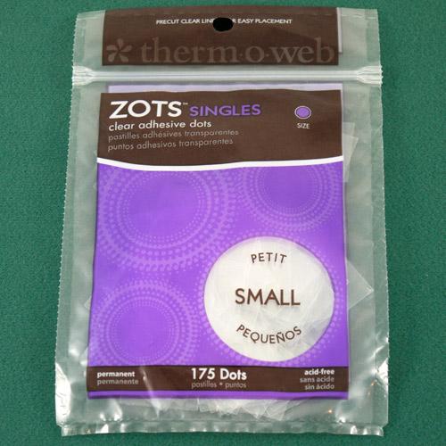"Zots - small sticky dots 175 dots - 3/16"" diameter"