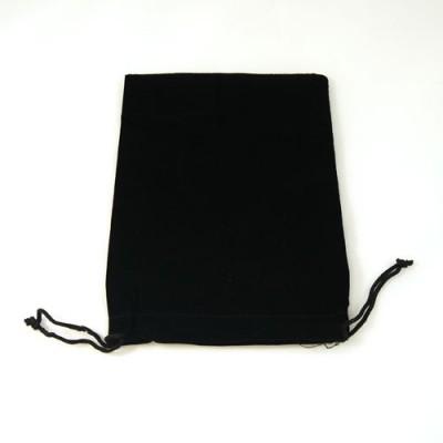 Black Velvet Drawstring Bag/Pouch - 11.5cm x 17cm