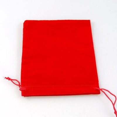Red Velvet Drawstring Bag/Pouch - 10cm x 10cm