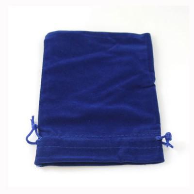Blue Velvet Drawstring Bag/Pouch - 8cm x 10cm