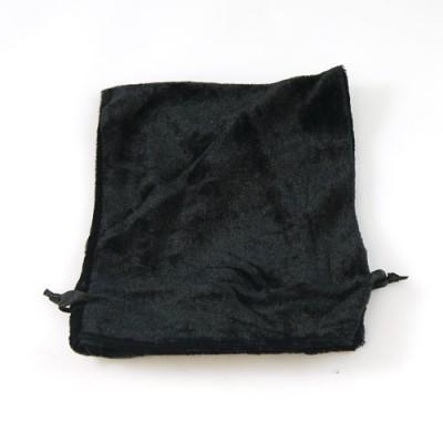 Black Velvet Drawstring Bag/Pouch - 12cm x 14cm