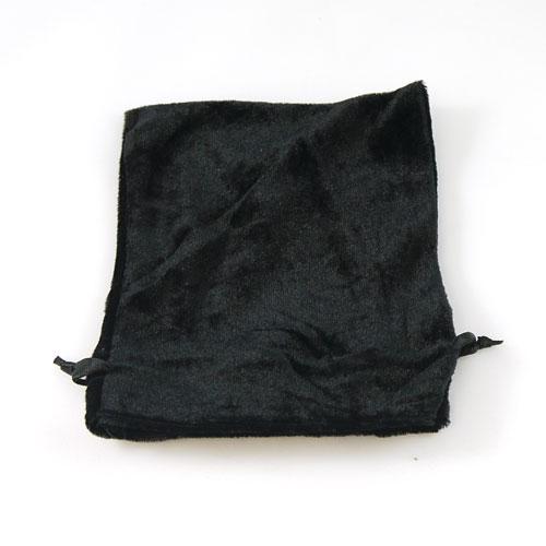 black velvet drawstring bag pouch 12cm x 14cm