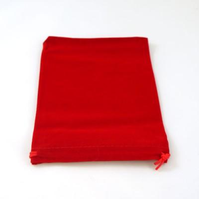 Red Velvet Drawstring Bag/Pouch - 13cm x 17cm